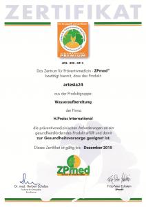 artesia24 Zertifizierung